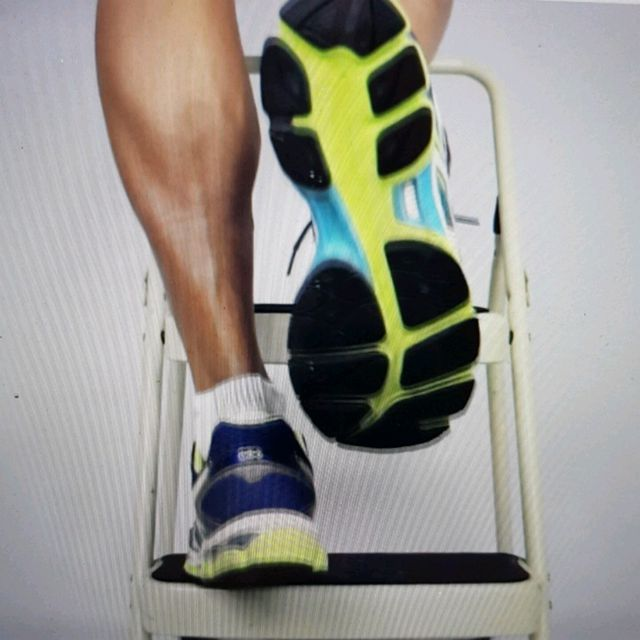 How to do: ECCENTRIC SINGLE LEG CALF RAISE - Step 14