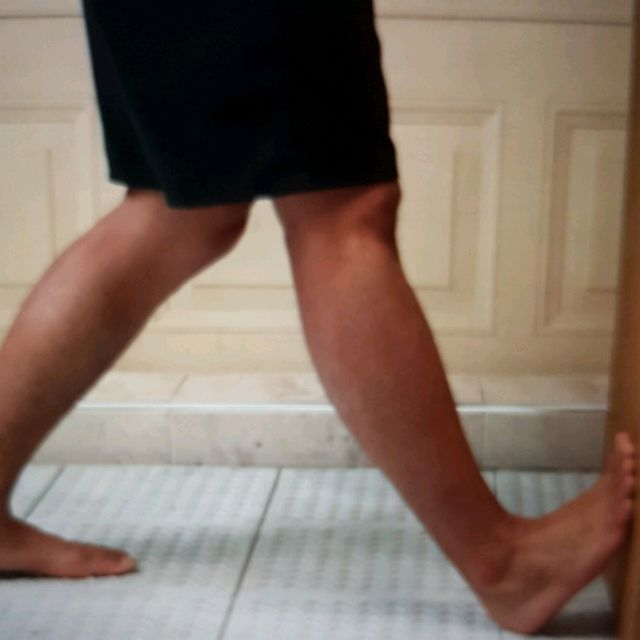 How to do: Standing Calf WALL Stretch Hold Minimum 20 Seconds - Step 2
