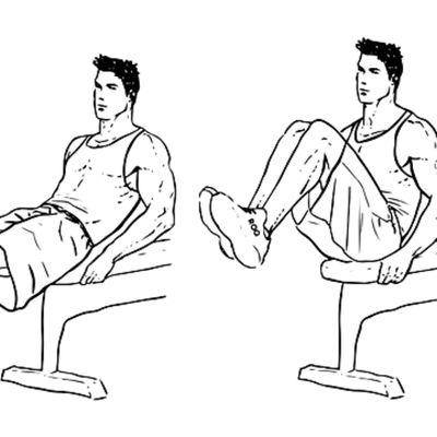 Bench Knee-ups