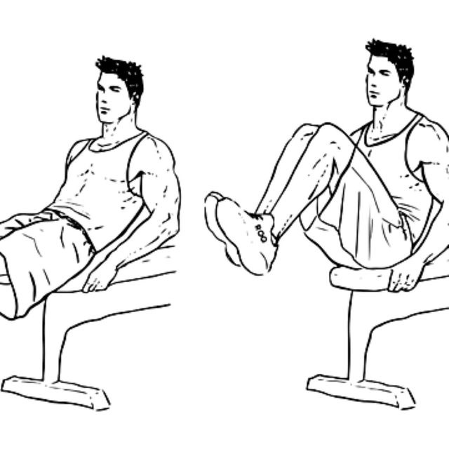 How to do: Bench Knee-ups - Step 1