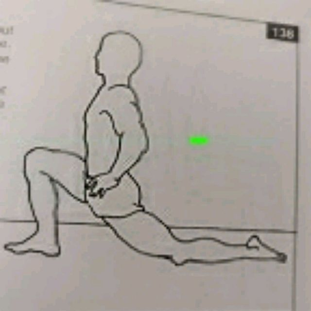 How to do: Left Lunge Stretch - Step 1