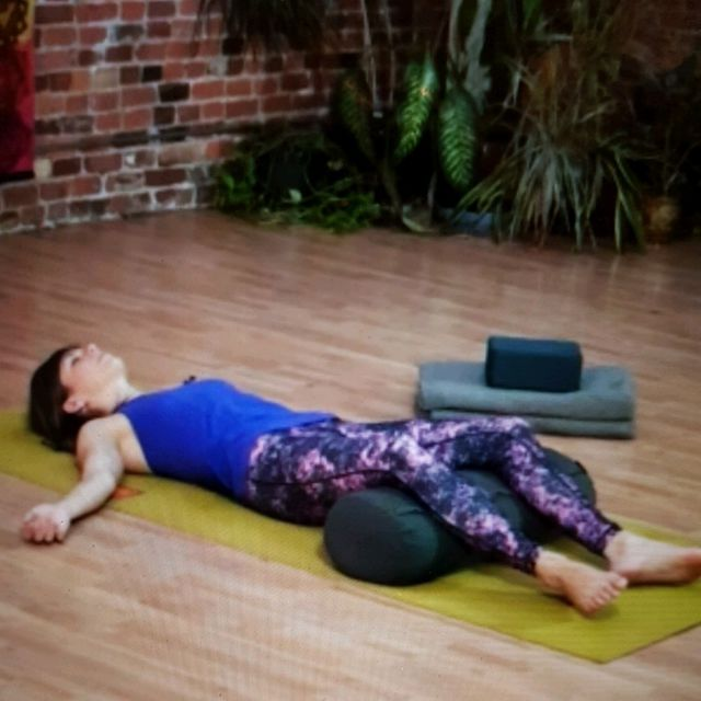 How to do: Supported Savasana (use Pillow) - Step 1