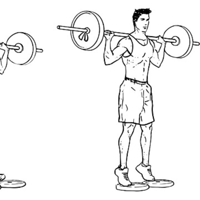 How to do: Calf Raises With Dumbells - Step 2