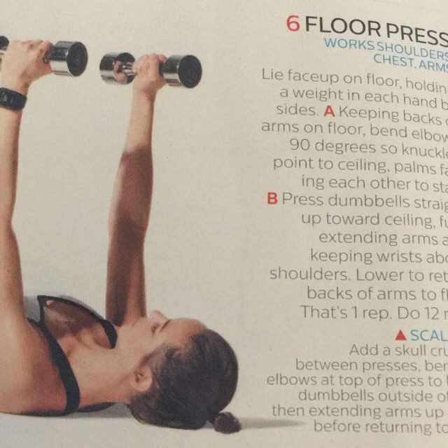 How to do: Floor Press - Step 1