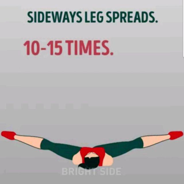How to do: Sideways Leg Spreads - Step 1