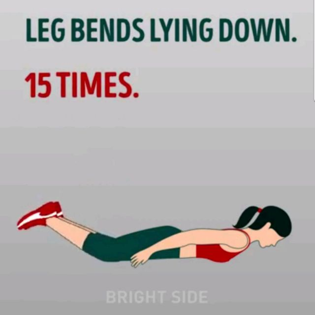 How to do: Leg Bends Lying Down - Step 1
