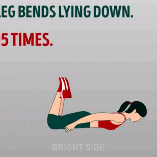 How to do: Leg Bends Lying Down - Step 2