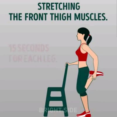 Stretching The Front Thigh Muscles