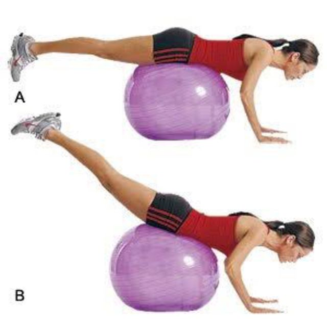 How to do: Stability Ball Reverse Hyperextension - Step 1
