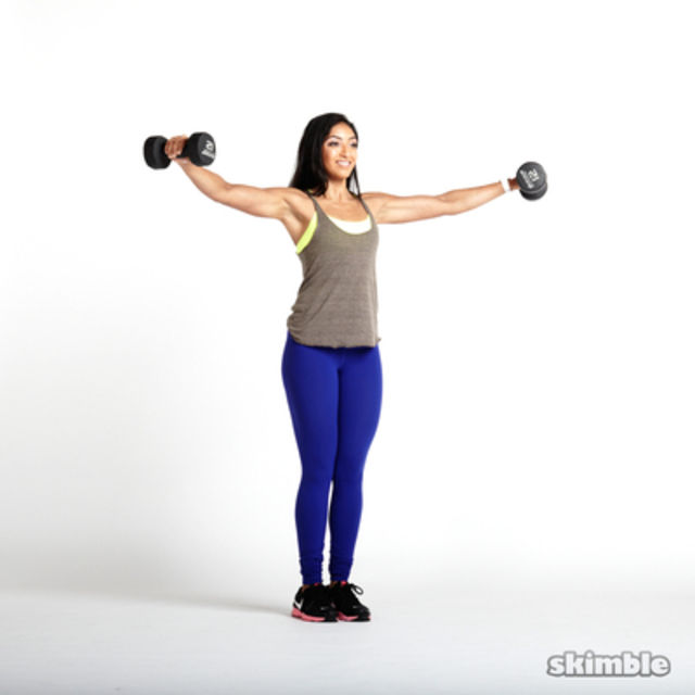 How to do: Dumbbell Lateral Shoulder Raises - Step 1