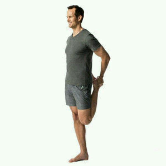 How to do: Standing quadriceps stretch (custom) - Step 1