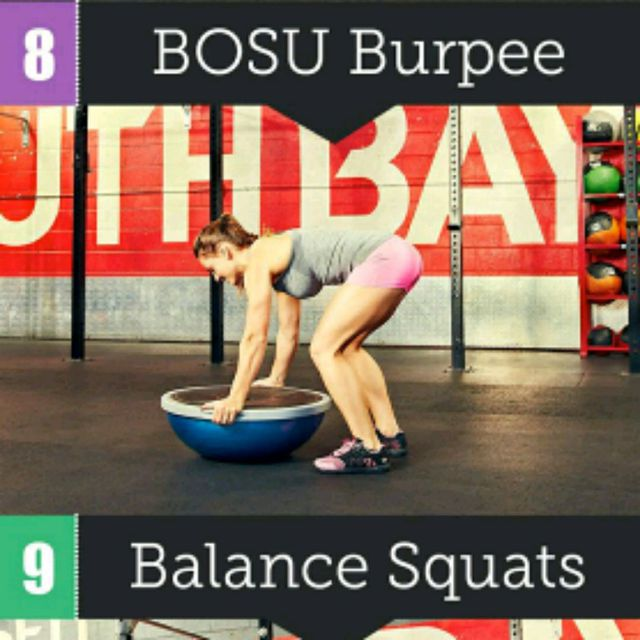 How to do: Bosu Burpee - Step 1