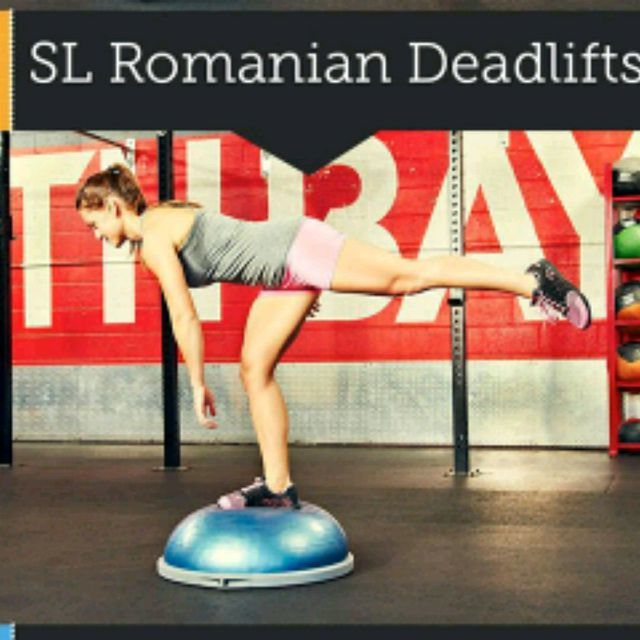 How to do: Left Single Leg Romanian Dead lifts - Step 1