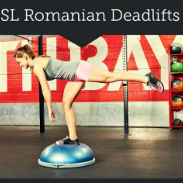 How to do: Right Single Leg Romanian Dead Lift - Step 1