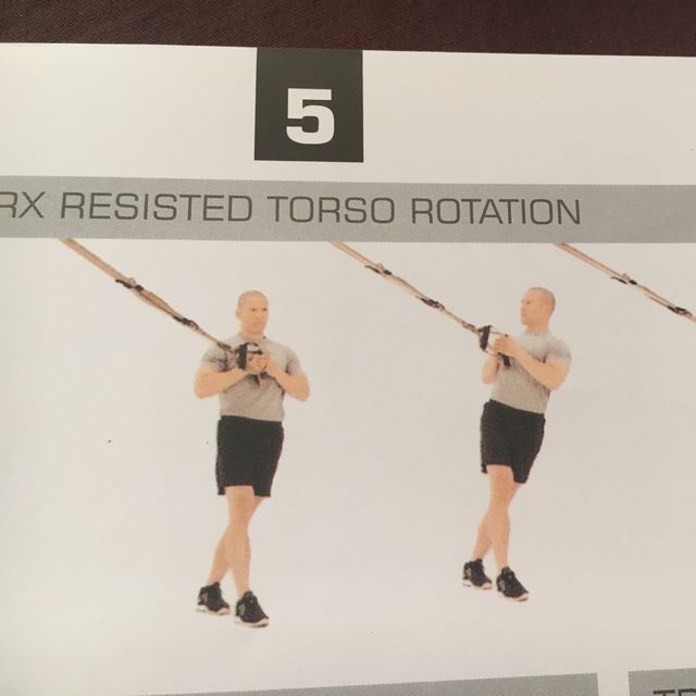 How to do: TRX Resisted Torso Rotation - Step 1