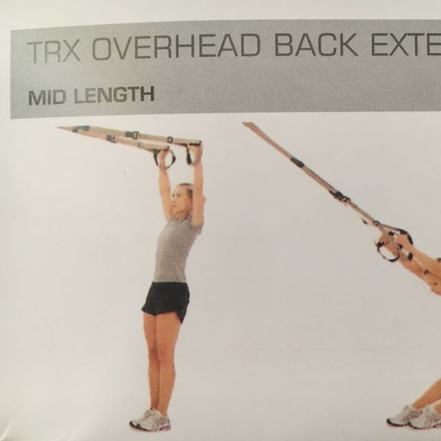 How to do: TRX Overhead Back Extention - Step 1