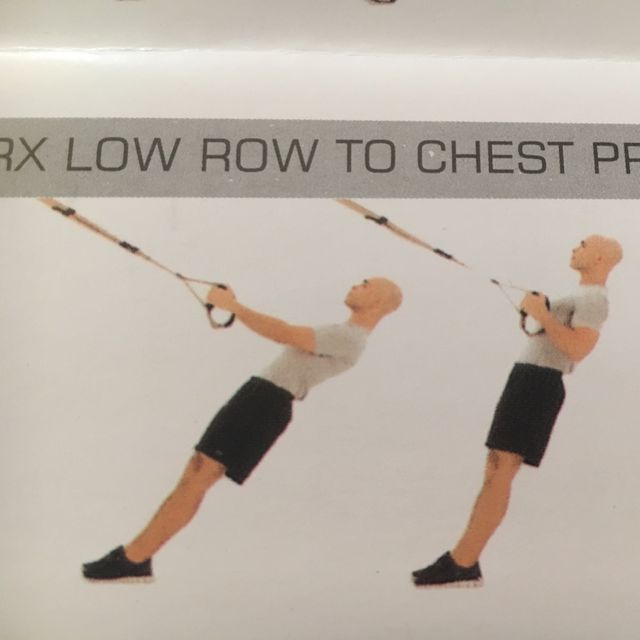 How to do: TRX Low Row To Chest Press - Step 1
