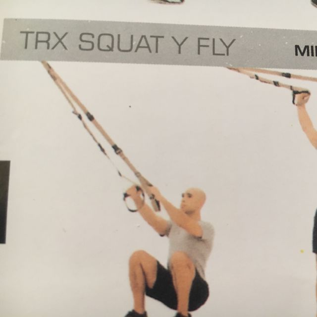 How to do: TRX Squat Y Fly - Step 1