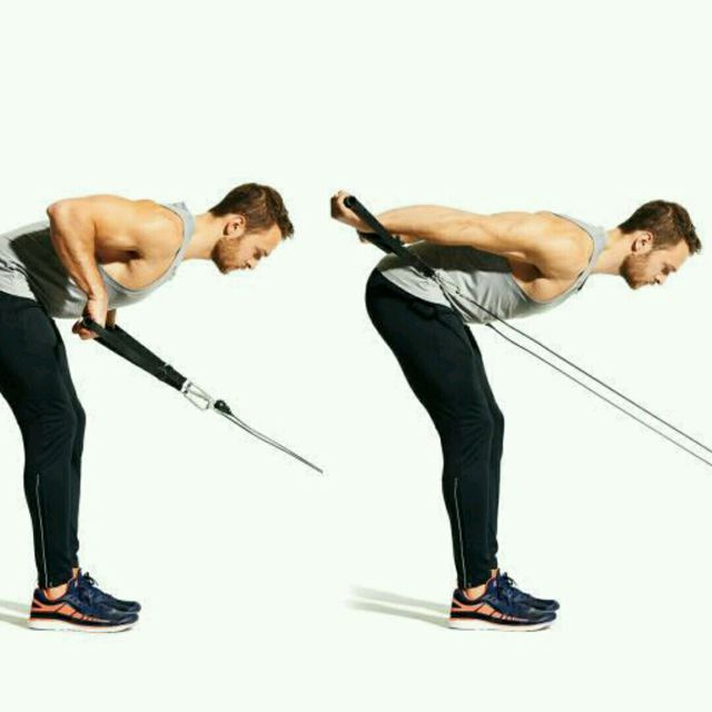 How to do: CM Bent Over Two Arm Triceps Kickbacks - Step 3