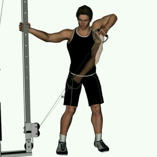 How to do: CM Single Arm Upright Row - Step 1