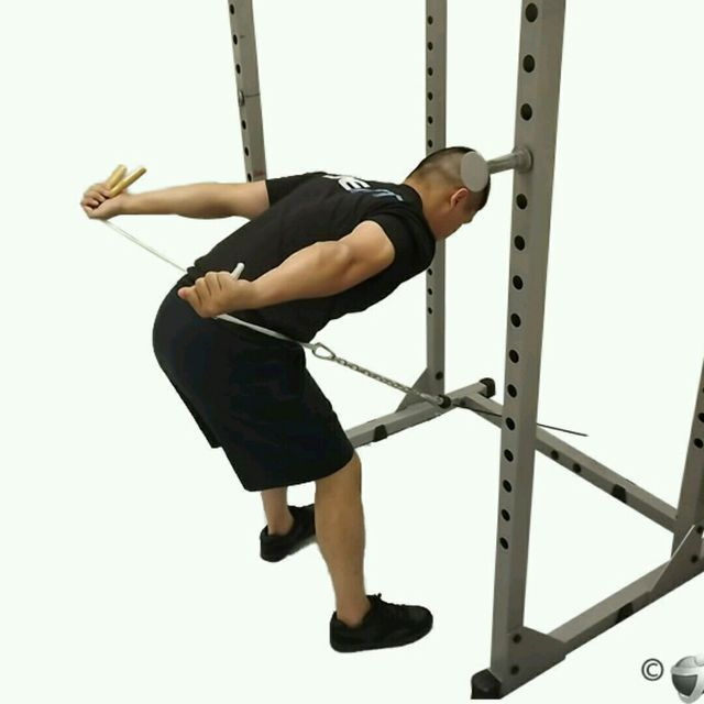 How to do: CM Bent Over Two Arm Triceps Kickbacks - Step 4