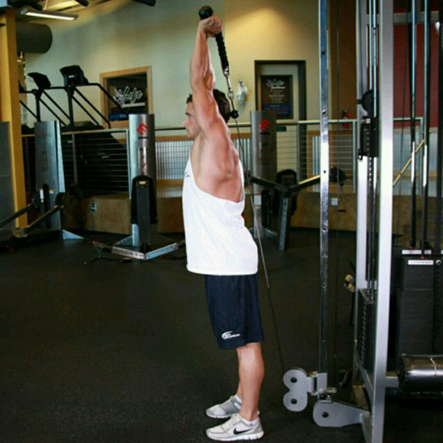 How to do: CM One Arm Overhead Triceps Extensions - Step 2