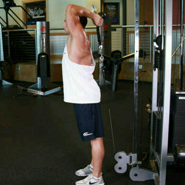 How to do: CM One Arm Overhead Triceps Extensions - Step 1