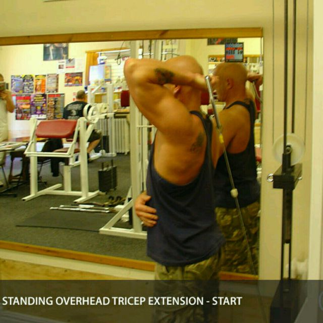 How to do: CM One Arm Overhead Triceps Extensions - Step 3