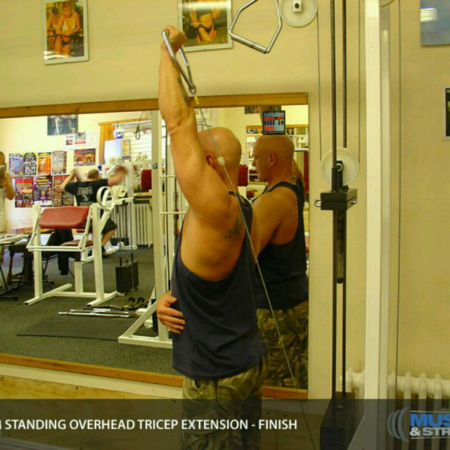 How to do: CM One Arm Overhead Triceps Extensions - Step 4