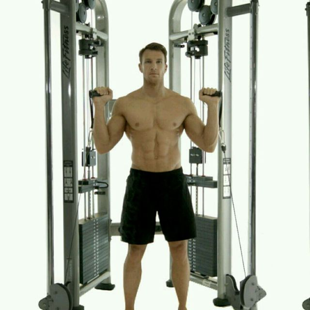 How to do: CM Double Arm Overhead Shoulder Press - Step 1