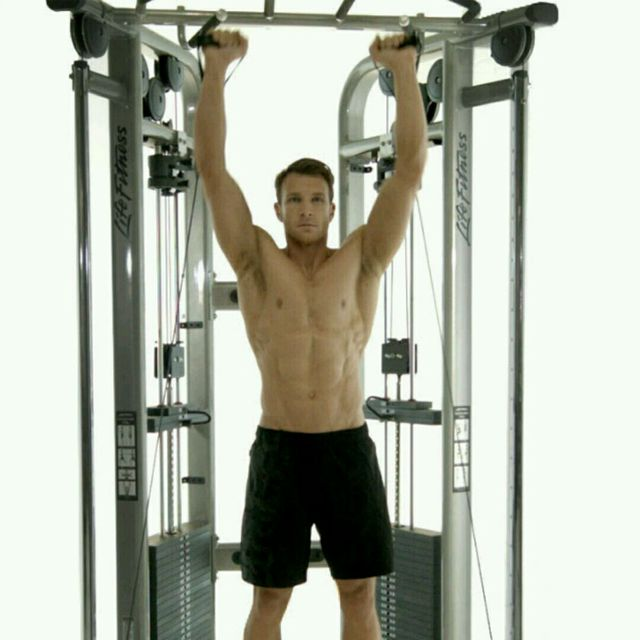 How to do: CM Double Arm Overhead Shoulder Press - Step 2