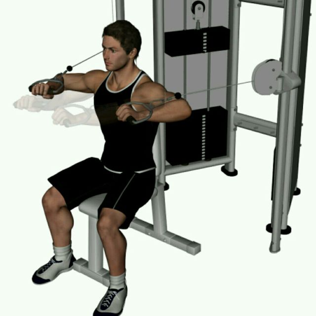 How to do: CM Sitted Overhand Straight Chest Press - Step 1