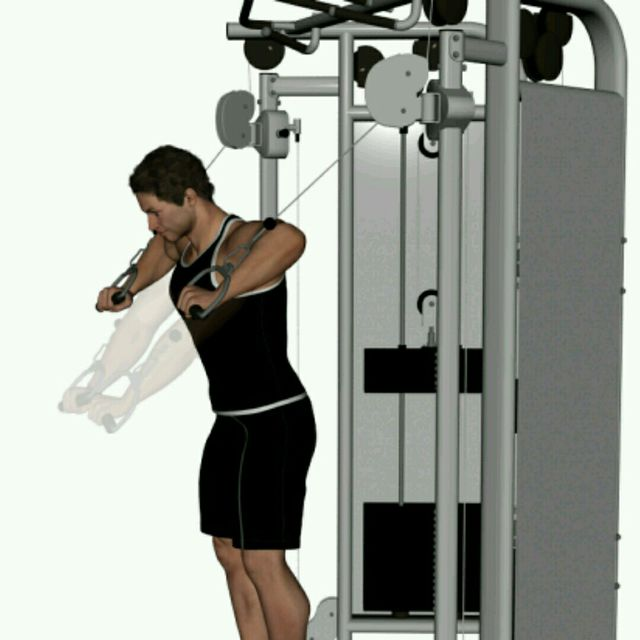 How to do: CM High Pulley Chest Press - Step 1