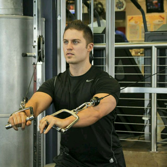 How to do: CM High Pulley Chest Press - Step 3