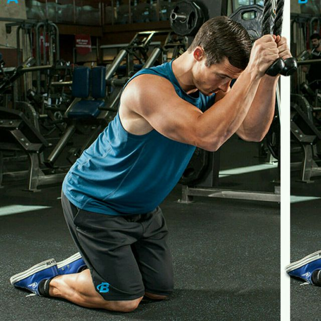 How to do: CM Kneeling Ab Crunch - Step 1