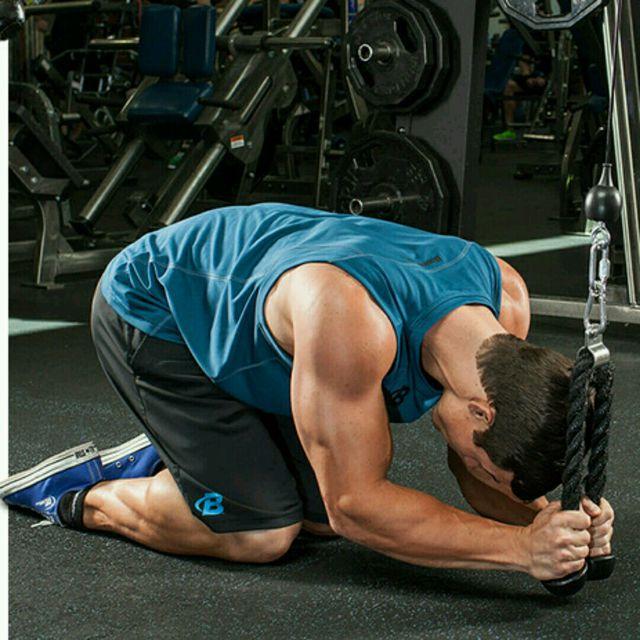 How to do: CM Kneeling Ab Crunch - Step 2