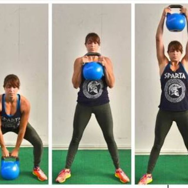 How to do: Sumo Squat To Press - Step 1