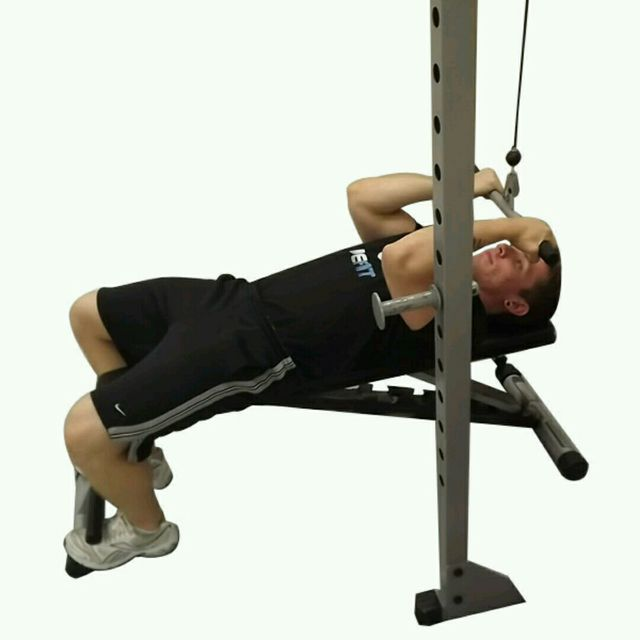 How to do: CM Lying High Bicep Curl (Scull Crusher) - Step 2