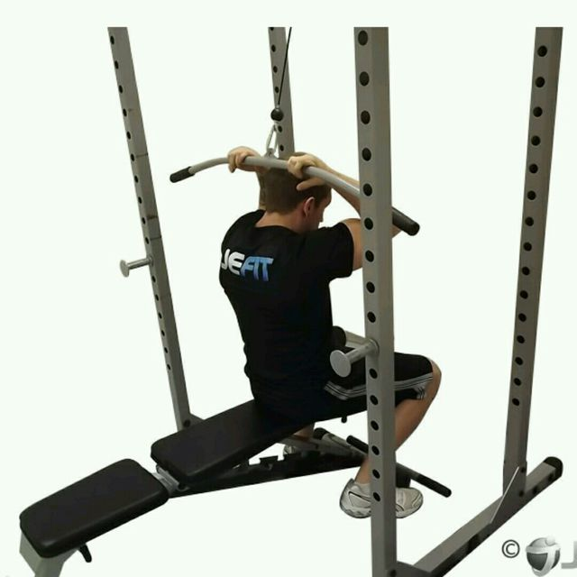 How to do: CM Seated Overhead Bicep Curl Pulldown - Step 2