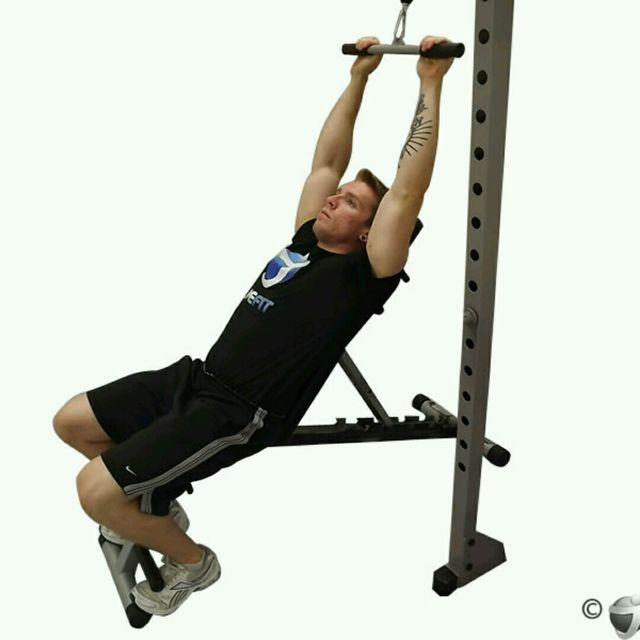How to do: CM Back Incline Bench Pushdown - Step 1