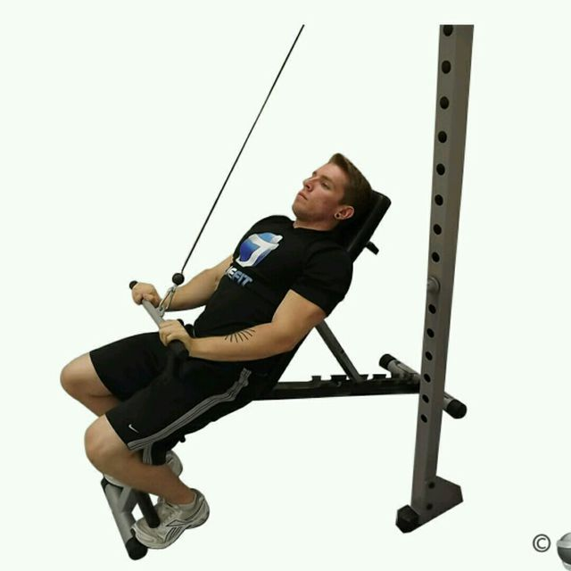 How to do: CM Back Incline Bench Pushdown - Step 2