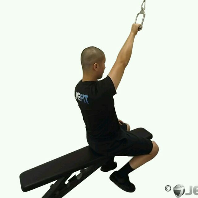How to do: CM One Arm Seated Lat Pulldown - Step 1