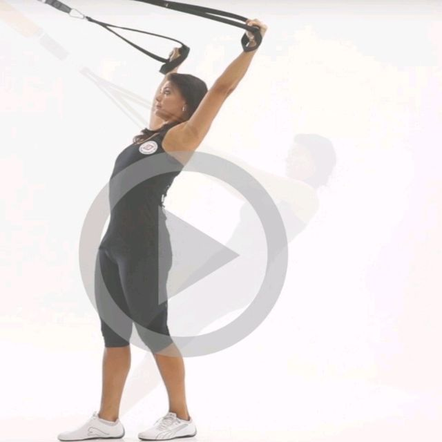 How to do: TRX Y Flys - Step 2