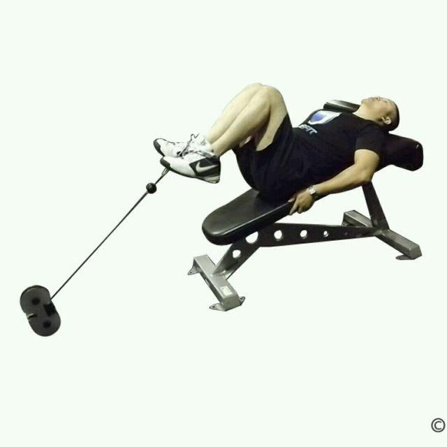 How to do: CM Decline Bench Knee Raise - Step 2
