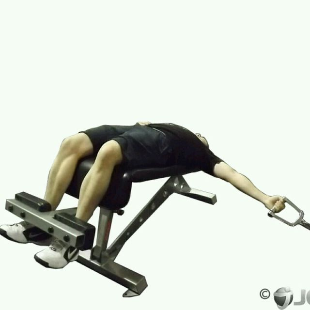 How to do: CM One Arm Decline Chest Fly - Step 2