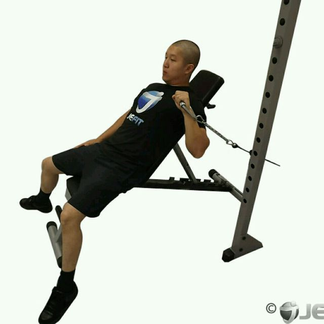 How to do: CM One Arm Incline Chest Press - Step 1