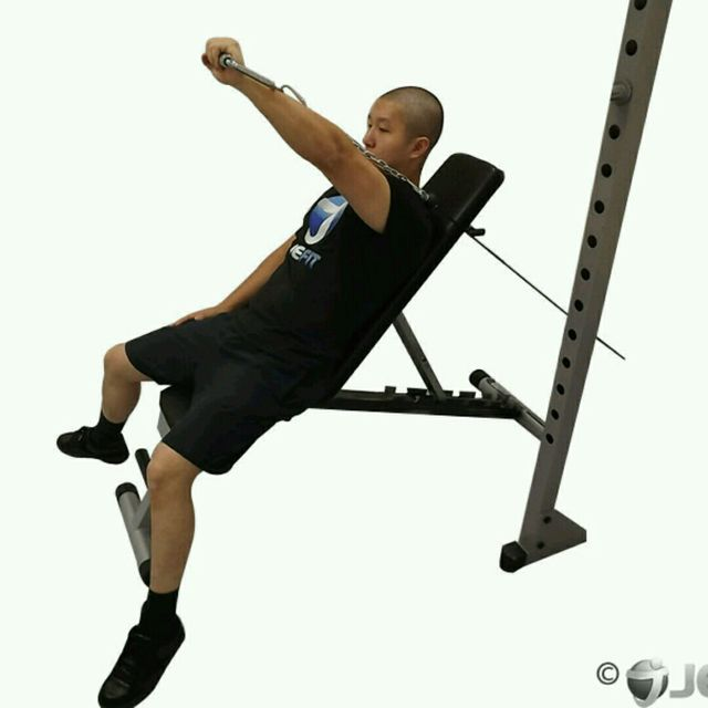 How to do: CM One Arm Incline Chest Press - Step 2