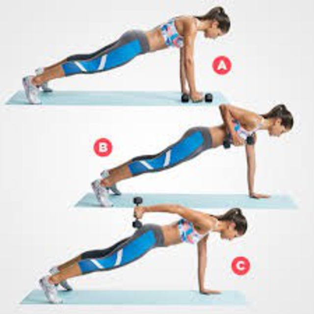 How to do: Plank Tricep Extension - Step 1