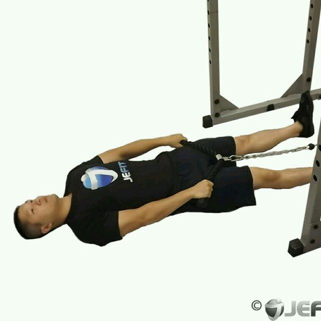How to do: CM Lying Upright Row - Step 1