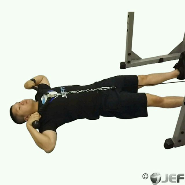 How to do: CM Lying Upright Row - Step 2